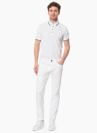 Network Slim Fit Polo Yaka Tişört Beyaz